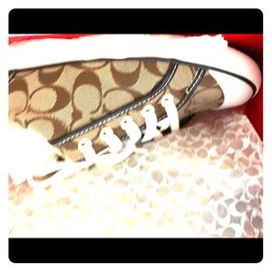 Coach canvas tennis shoes